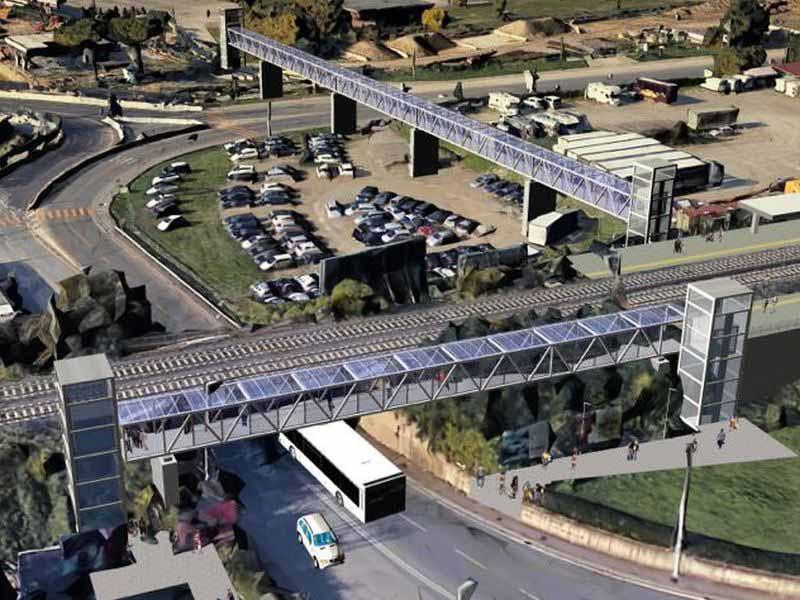 Stazione treno viale Guidoni - Fermata Guidoni tramvia