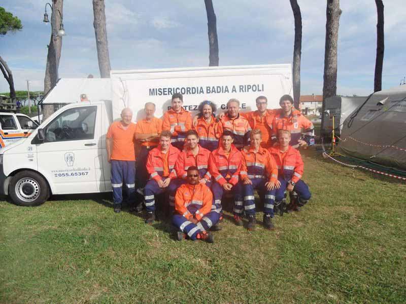 Esercitazione protezione civile Misercordia Bagno a Ripoli
