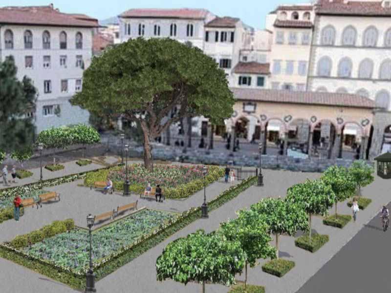 Piazza del Ciompi Firenze progetto giardino