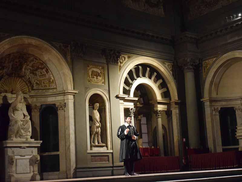 Salone Cinquecento illuminazione spettacolo vasari