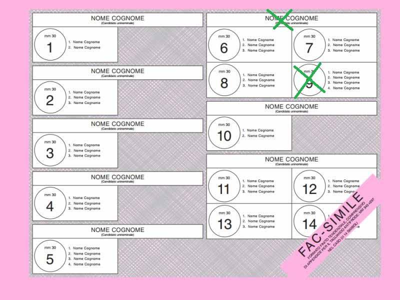 Le schede, come si vota in provincia di Treviso