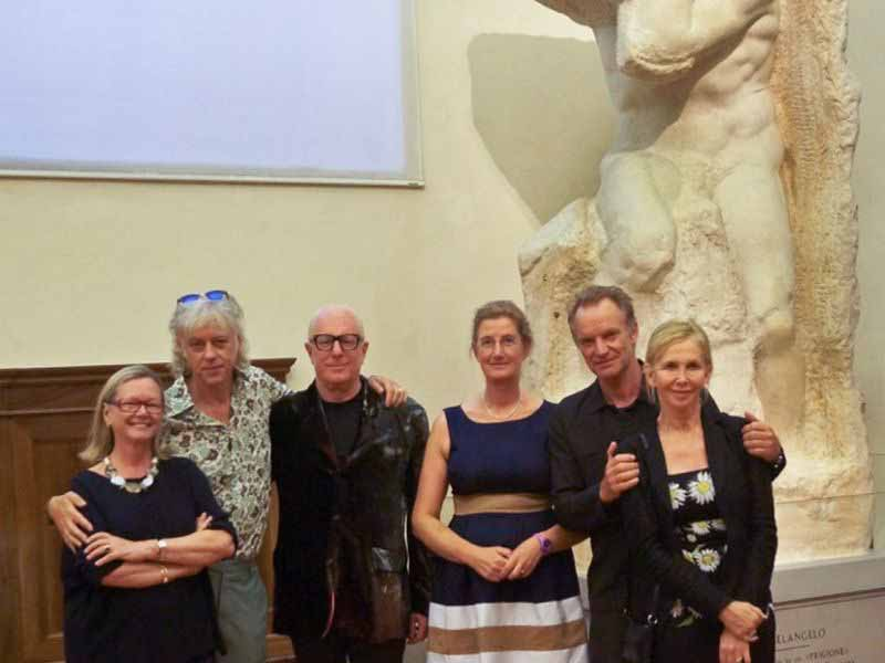Sting Bob Geldof Galleria Accademia Firenze