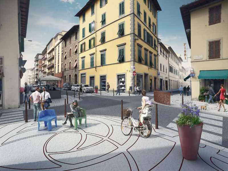 Riqualificazione via Gioberti Firenze, rendering