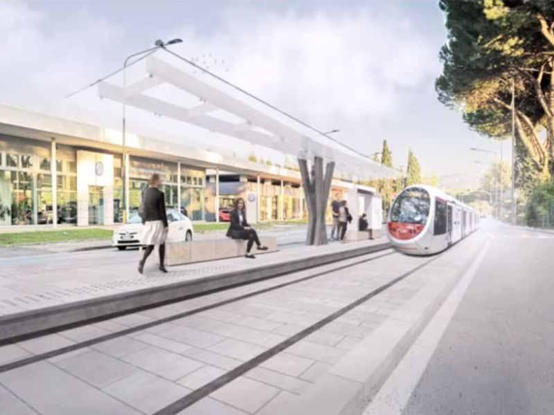 Linea 3.2 tramvia rendering viale Europa
