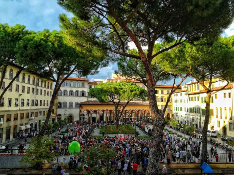 Piazza Ciompi Firenze progetto lavori