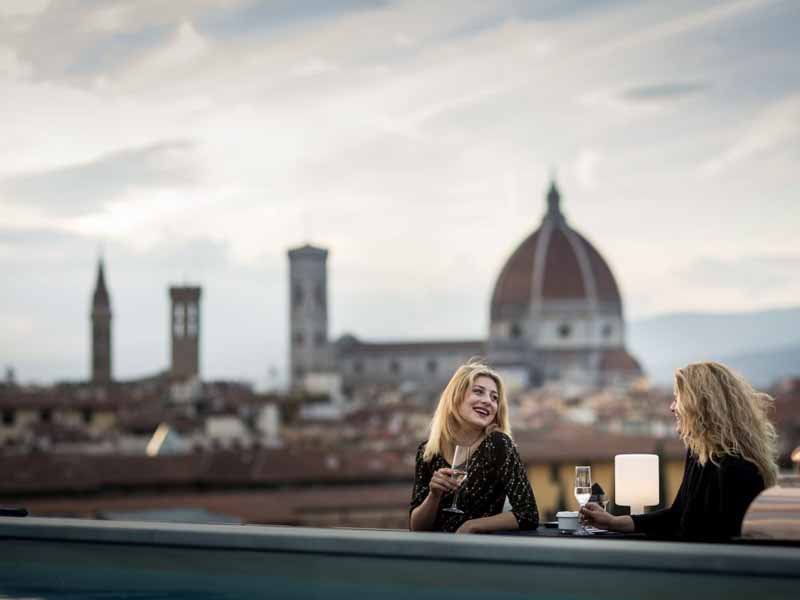 Aperitivi panoramici Firenze 2017 terrazze con vista - Plaza Hotel Lucchesi