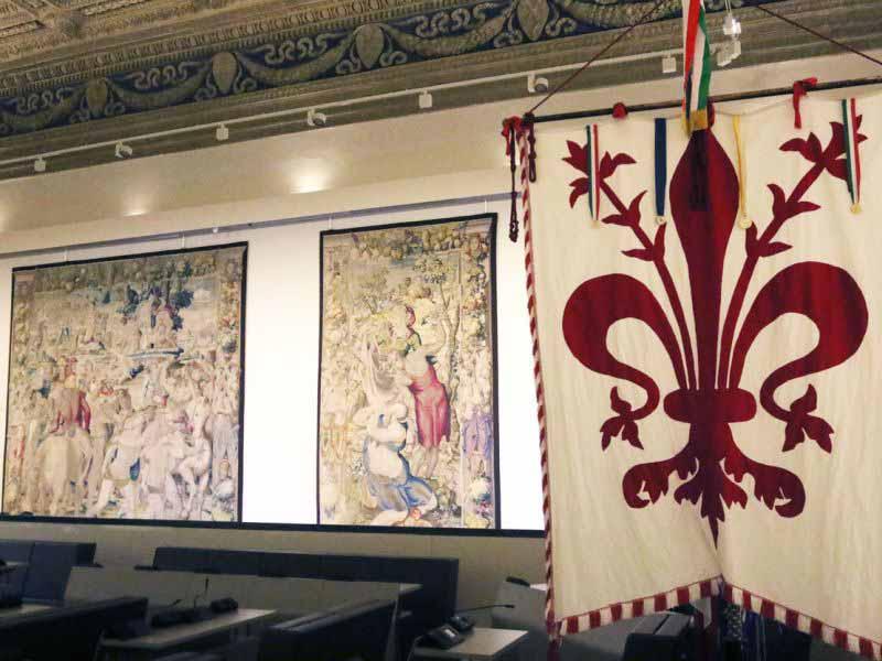Palazzo Vecchio mostra arazzi Salone Duecento