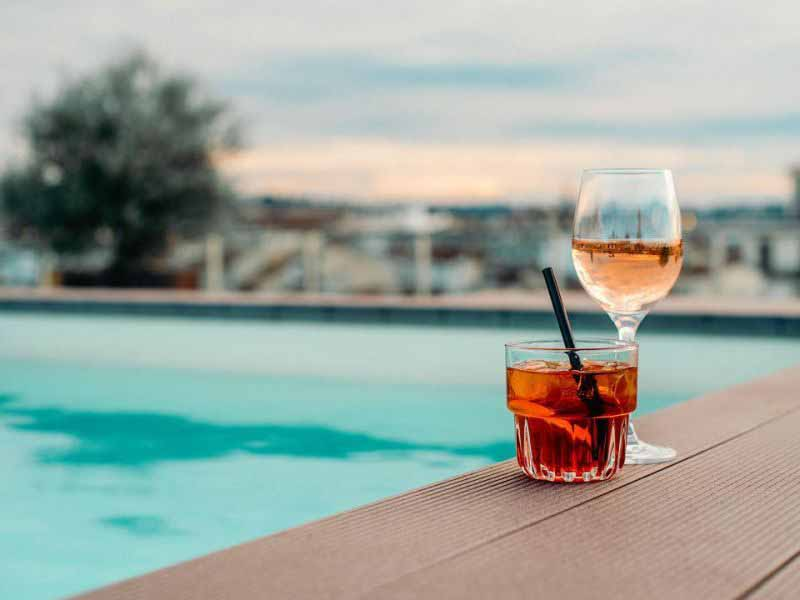 Aperitiva vista Firenze terrazza panoramica Glance Summer