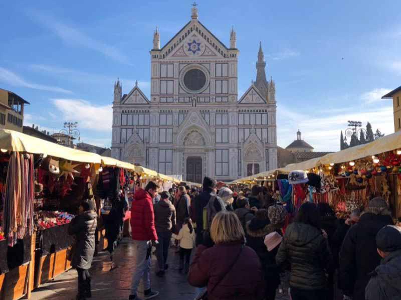 Mercatino Natale piazza Santa Croce Firenze 2018 - Weihnachtsmarkt