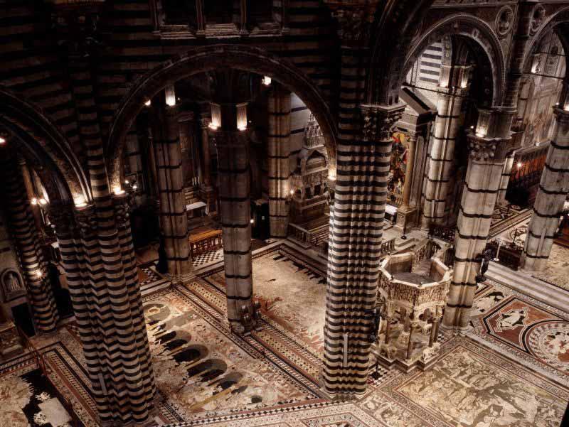 Pavimento Duomo Siena apertura 2017
