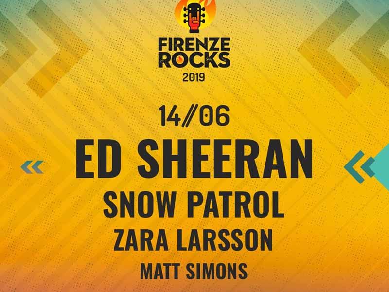 Snow Patrol, Zara Larsson e Matt Simons a Firenze Rocks. Sul palco prima di Ed Sheeran