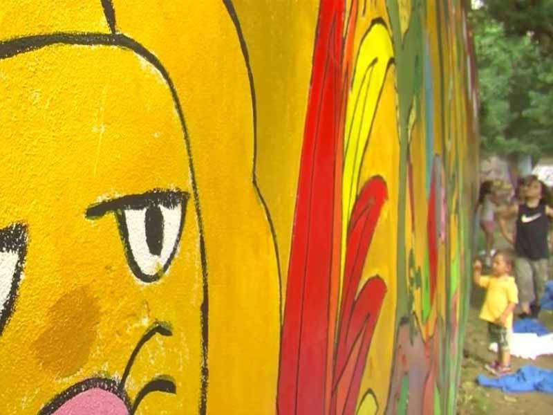 Murales giardino di via Maragliano Firenze, associazione giardino San Jacopino