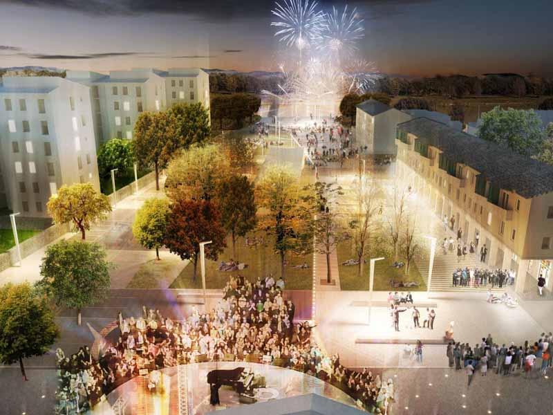 Piazza dell'Isolotto progetto vincitore bando Comune di Firenze