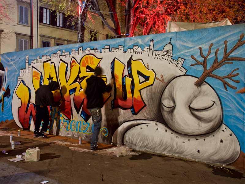 A Santo Spirito il cantiere è creativo. Street artist in azione a ...