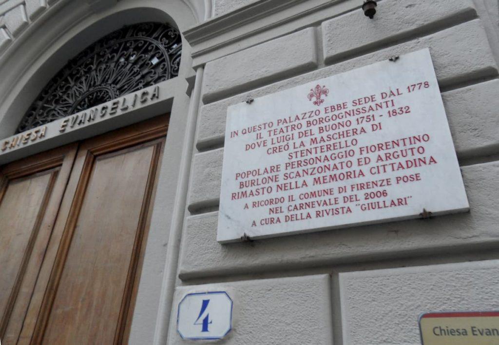 Stenterello maschera Firenze Borgonissanti