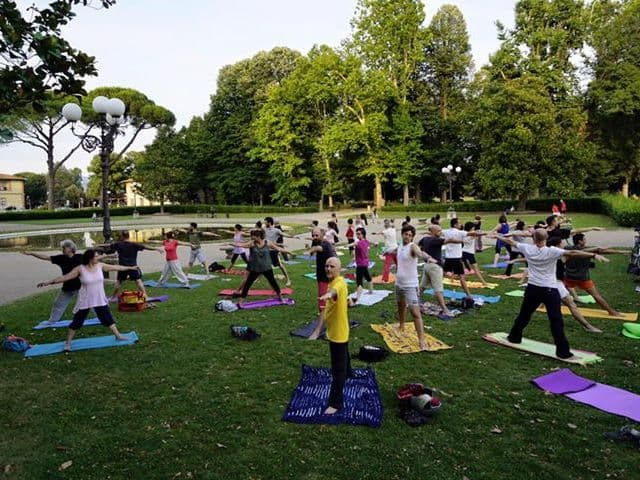 Yoga Cascine all'aperto gratis Firenze