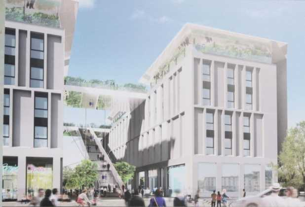 Student Hotel viale Belfiore rendering