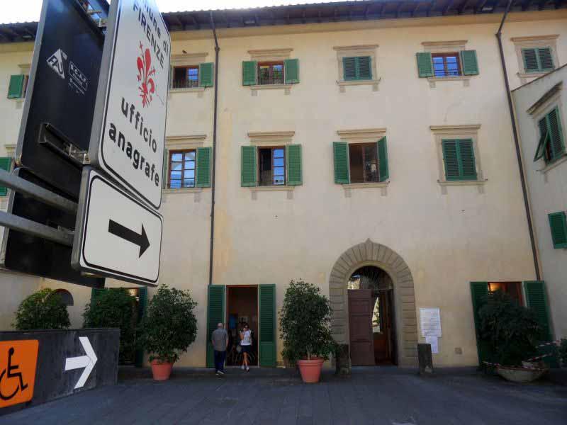 Pad anagrafe Firenze Villa Vogel