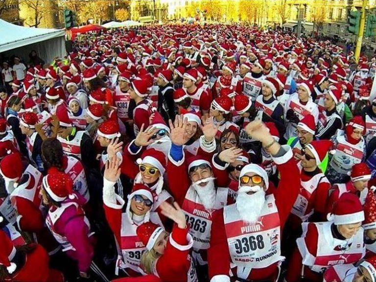 Babbo Running 2018: a Firenze di corsa con barba e costume rosso