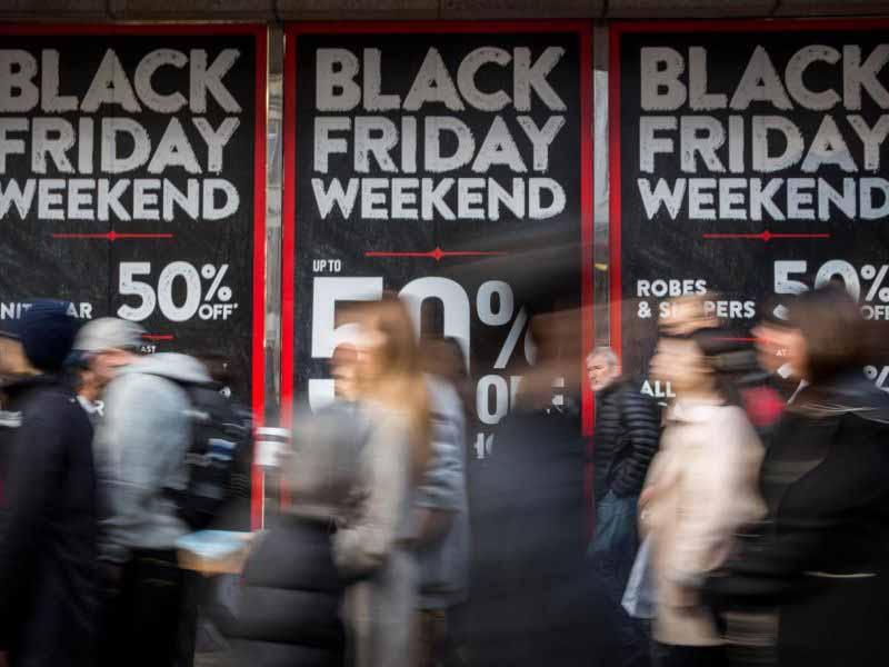 Black Friday sconti saldi venerdì