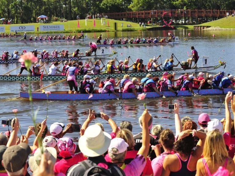 L'Arno in rosa con il Dragon Boat Festival di Firenze