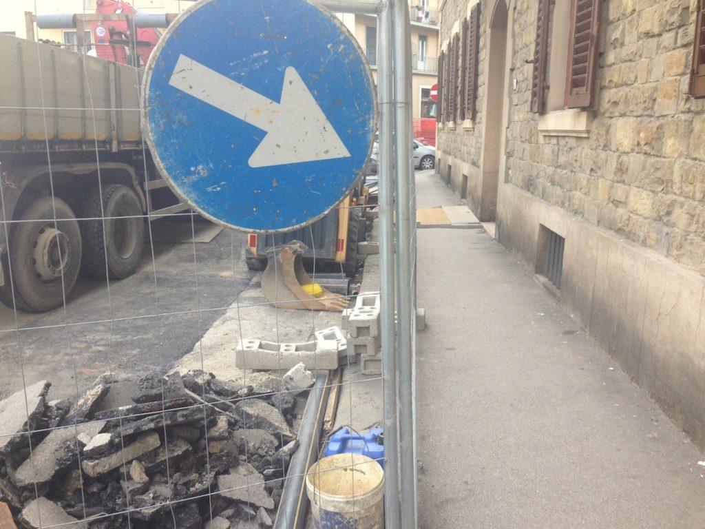 Lavori strade cantieri Firenze