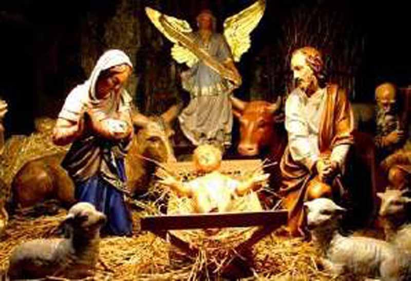 Immagini Sacre Natale.Ladri Del Natale Portata Via La Sacra Famiglia