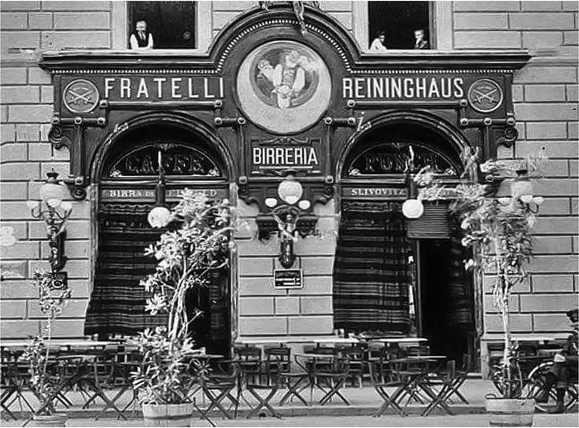 Caffè storici Firenze - Giubbe Rosse, fratelli Reininghaus