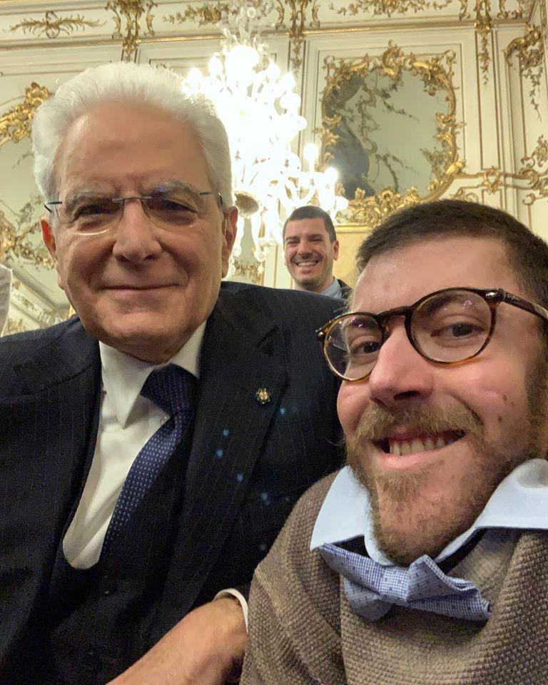 Iacopo Melio con Mattarella