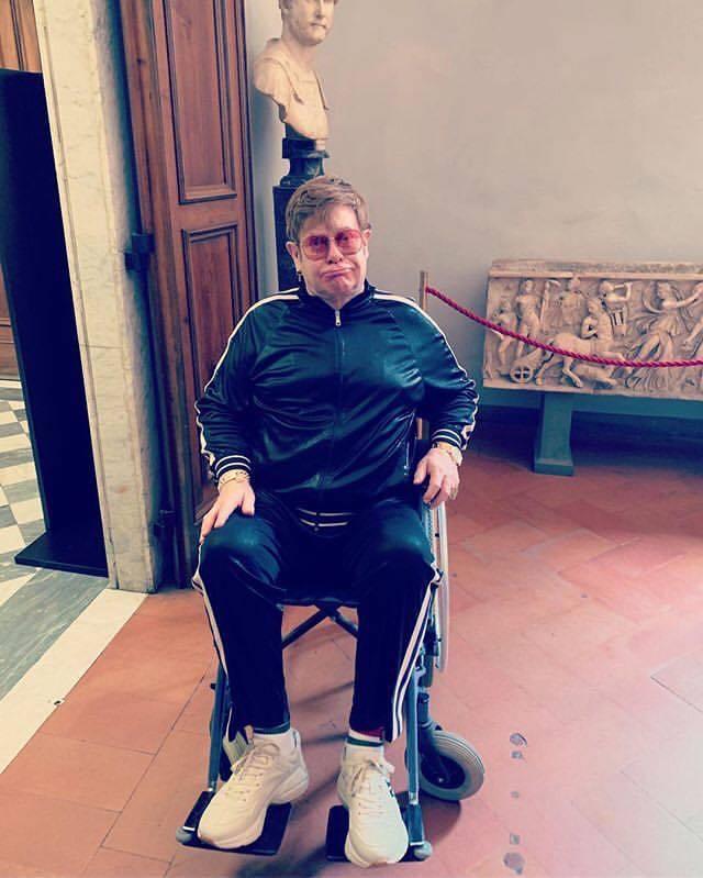 Elton John Uffizi Firenze