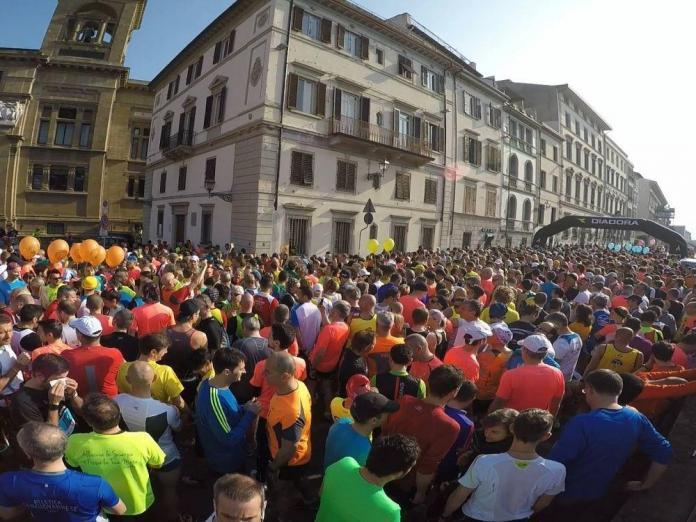 Mezza maratona Firenze lungarno