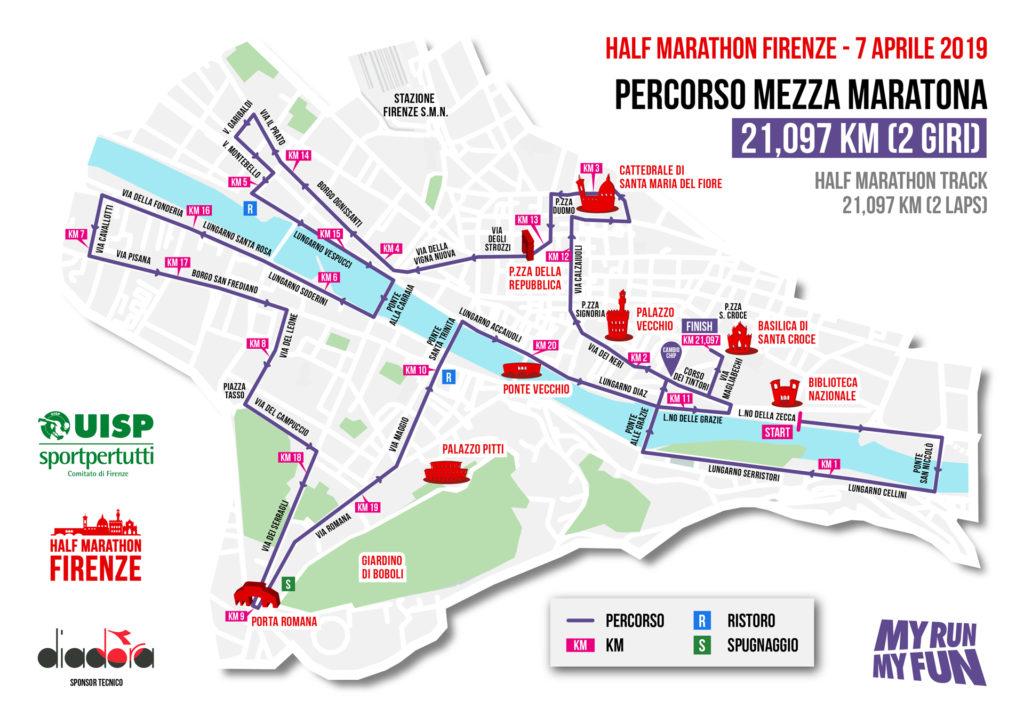 Mezza maratona Firenze 2019 - Firenze Half Marathon percorso iscrizioni