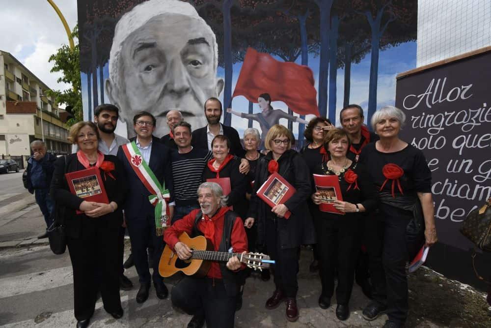 Murale partigiano Pillo Silvano Sarti