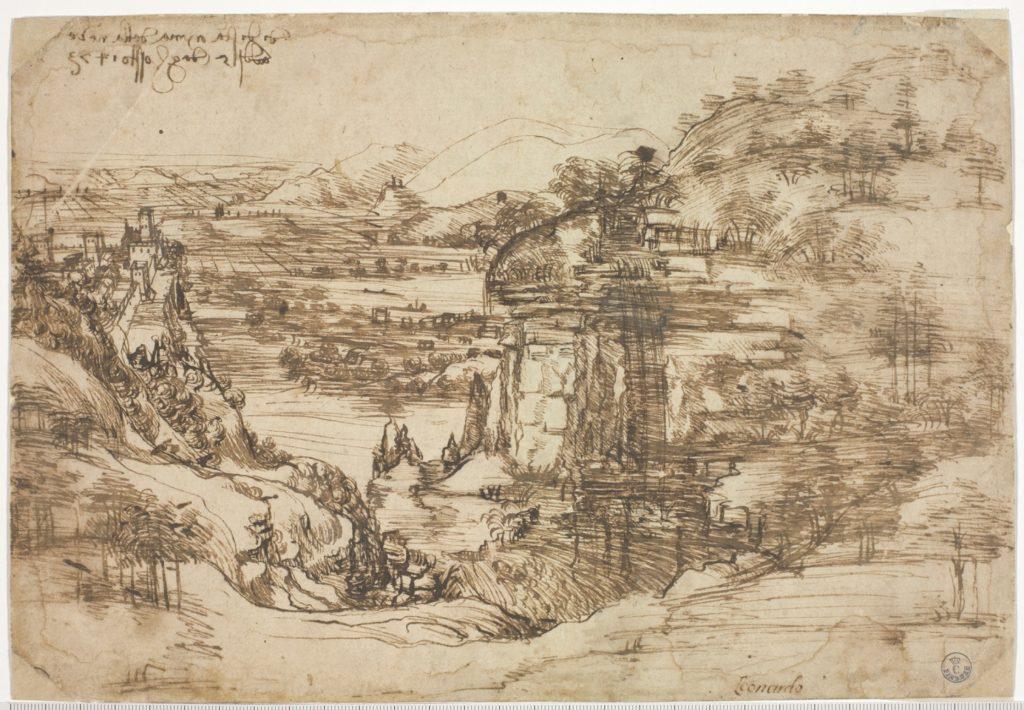 Paesaggio 8P Leonardo a Vinci Alle origini del Genio mostra