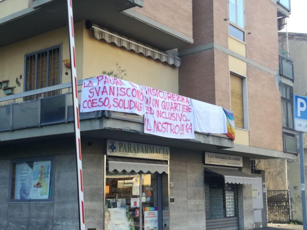 Salvini Firenze piazza dei Tigli striscioni
