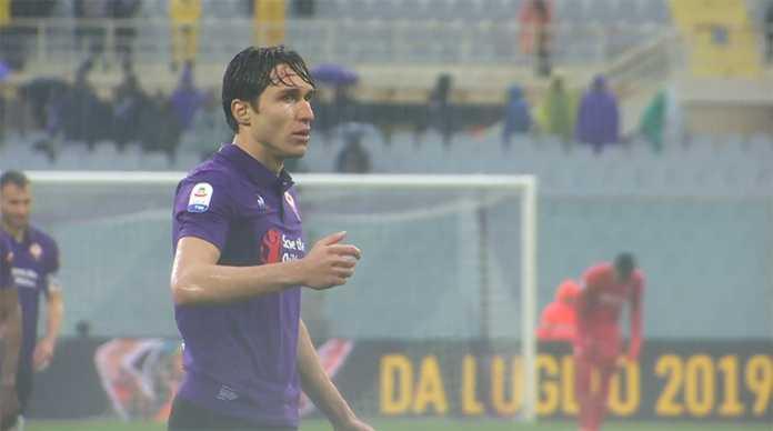 Federico Chiesa durante Fiorentina Bologna. 14 aprile 2019