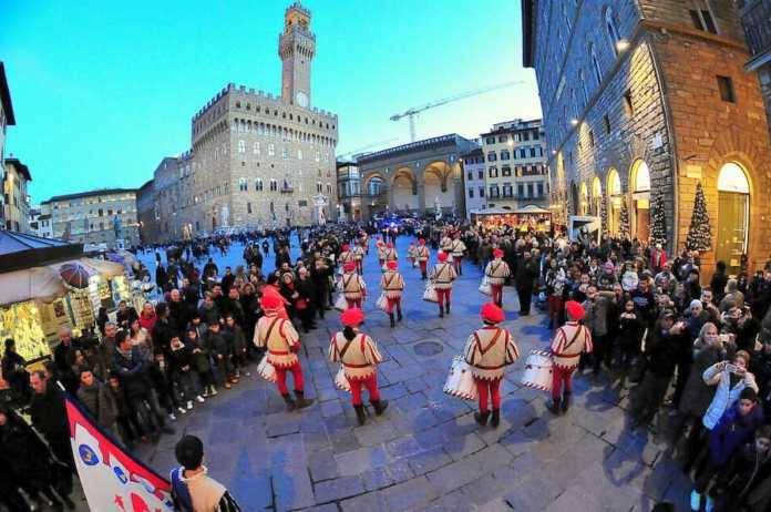 Corteo storico Firenze piazza Signoria