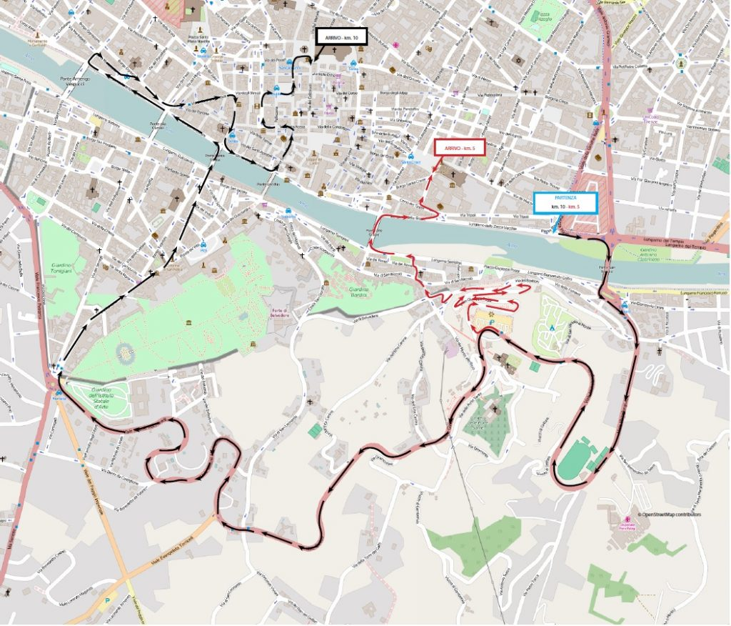 Deejay Ten Firenze percorso 2019 mappa