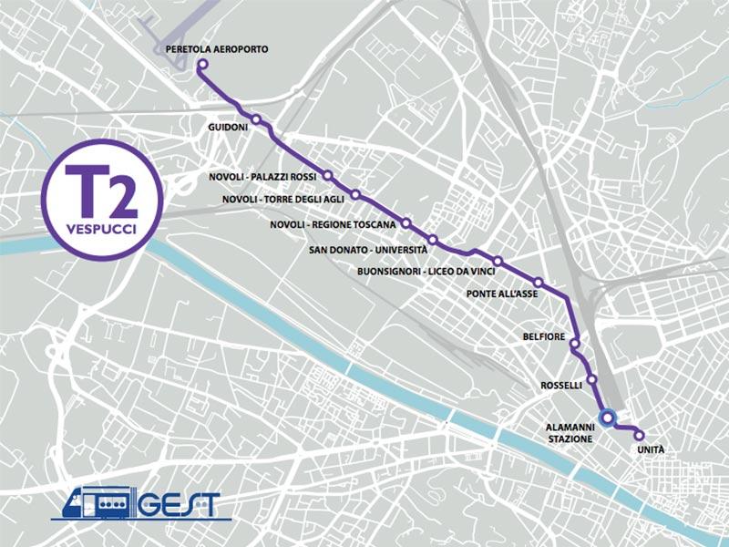 tramvia firenze fermate linea 2