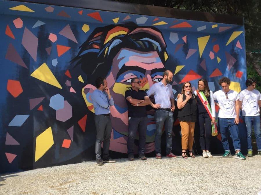 Murales Duccio Dini inaugurazione