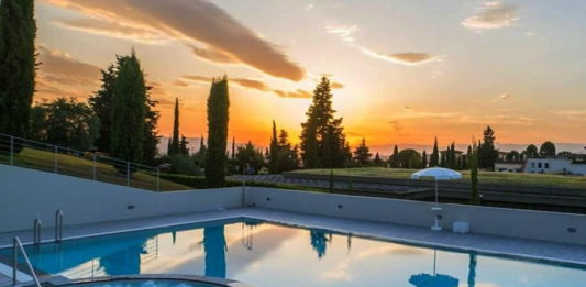 Piscine Marignolle Firenze tramonto