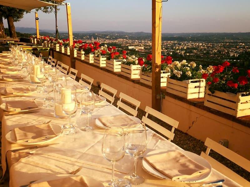 ristorante lo strettorio Firenze The Fork vista panoramica