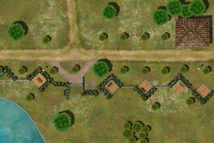 Recinzione parco Anconella Firenze rendering progetto