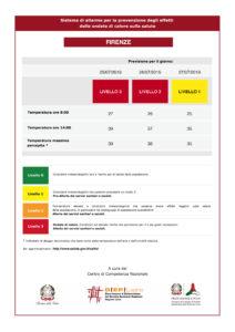 Meteo Firenze, temperature da allerta rossa