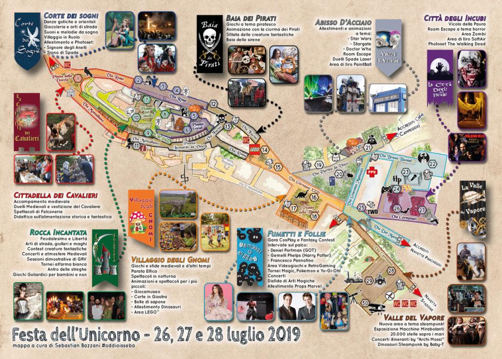 Festa Unicorno 2019, la mappa