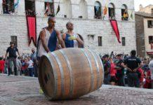 Bravio botti Montepulciano contrade orari