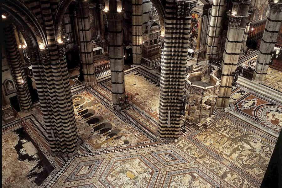 pavimento duomo Siena scoperto apertura visita interno cattedrale