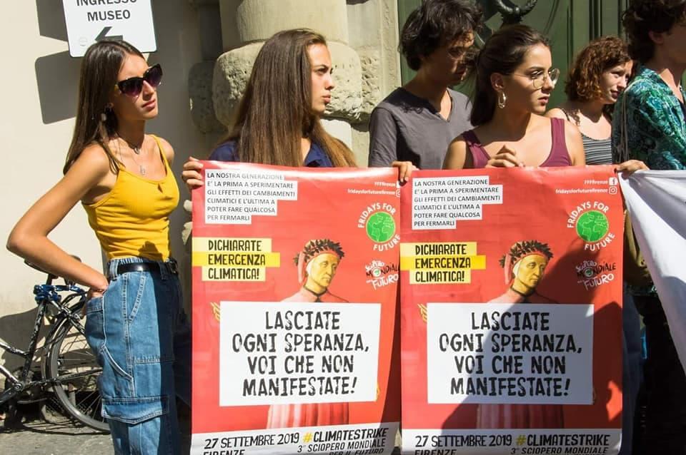 Manifestazione 27 settembre 2019 Firenze Fridays for future