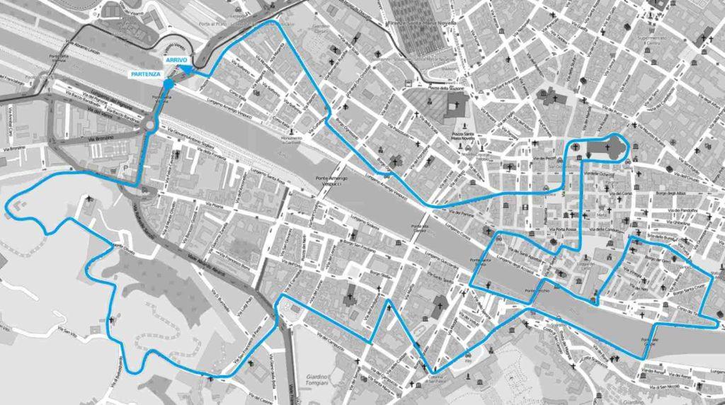 Mappa percorso Corri la Vita 2019