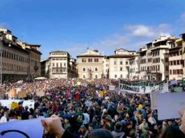 Sciopero clima Firenze Fridays for futures